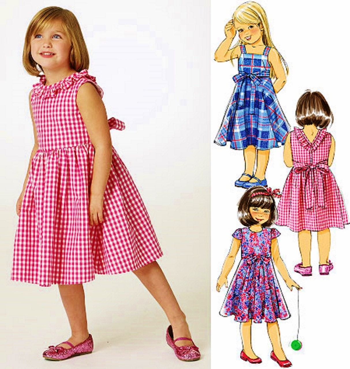Girls' Dress Pattern Butterick Pattern 5743 Girls' By Blue510