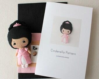 Cinderella Pattern Kit - Medium Skin, Pink Dress