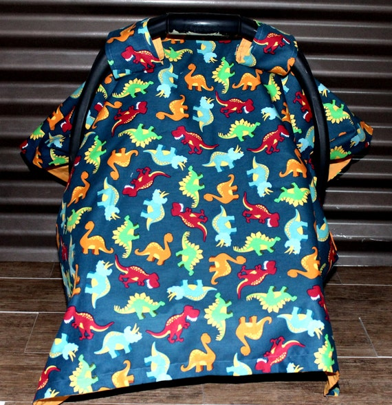 baby dinosaurs car seat canopy car seat by wadsworthboutique. Black Bedroom Furniture Sets. Home Design Ideas