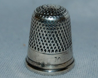 Vintage / Antique / Sterling / Thimble / Sewing / Tool / Handwork /