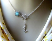 Mermaid Lariat Necklace, Mermaid Necklace, Druzy Lariat, Wheel Lariat, Lariat Jewelry, Custom Lariat