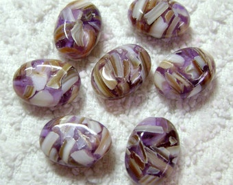 Light Purple Oval MOP Beads (18x13mm) - (7 Pcs) - B-1173