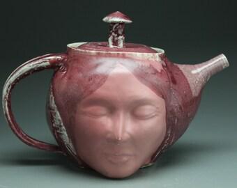 Buddha Teapot Face Sculpture Meditation Art Serving Vessel