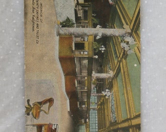 Orange County Savings and Trust Santa Ana, CA Old Post Card Postcard