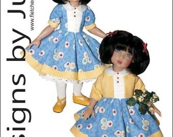 "Picking Daisies Dress Pattern for 12"" Bethany Kish Dolls"