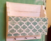 "12"" rustic wall organizer with key hooks on the bottom"