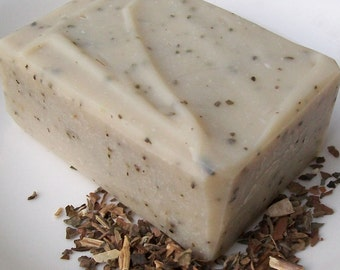 Patchouli Handmade Soap with Ground Patchouli, Patchouli Tea, and Patchouli Essential Oil