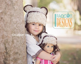 PATTERN Dream Cloud Kitty Bear Hat Crochet PDF Pattern Instant Download