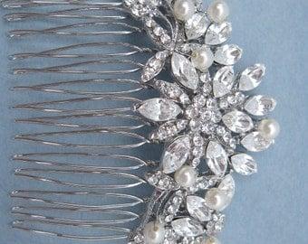 Pearl bridal hair comb wedding headpiece bridal hair accessory wedding hair comb bridal comb wedding hair jewelry bridal accessories wedding