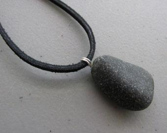 Rum Runner Black Beach Sea Glass Pendant  -  Seaglass Jewelry