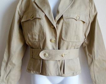ALAIA vintage safari style short jacket in cotton M