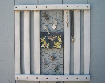 Reclaimed Wood Jewelry Holder - Rustic, Cottage Chic