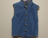Vintage Jean Denim Studded Vest/Jacket