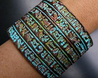 Ancient Egypt polymer clay cuff