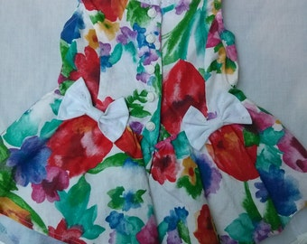 VINTAGE, Floral, Sleeveless DRESS Sz 2T.  Vivid Colors
