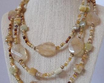 Honey Quartz  Necklace