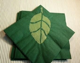Green Leaf Paper Cocktail / Luncheon/ Dinner / Beverage Napkins