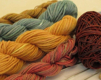 Thread Hand-Dyed & Hand-Painted for Looping or Crochet -- LSK101307