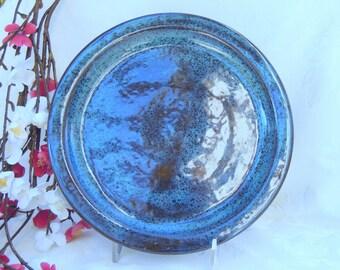 Mottled Blue Serving Plate