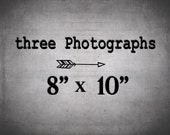 Set of 3 prints at 8x10 - Fine Art Photography 3 Photo Set