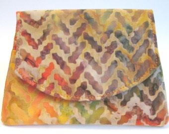 Colorful Zig Zag Small Batik Wallet
