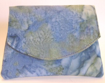 LAST ONE - Blue and Green Ocean Batik Wallet