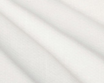 "Birdseye DIAPER CLOTH ~ 100% Cotton ~ White ~ 36"" wide ~ 1/2 yard length"