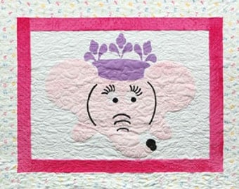 ELOISE the ELEPHANT Quilt Pattern ~ Applique and Pieced Quilt Pattern from Metropolitan Quilts