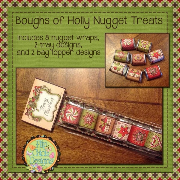 Boughs of Holly Printable Nugget Treats