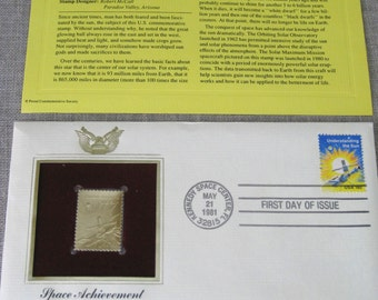 First Day Issue , Stamp , Space , Space Travel , Space Exploration , Gold Stamp , Commemorative Stamp , Postage Stamp , Collectibles