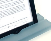 Groove Mist, Dusty Blue Resin iPad Stand, Tablet Stand, Mobile Device Stand, Translucent Modern Minimalism