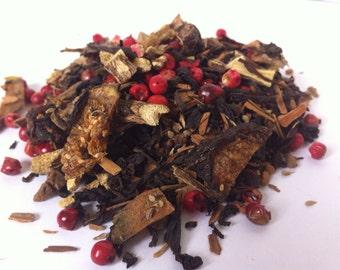 THUNDERSTORM TEA SAMPLE (Organic Smoked Tea with Licorice, Peppercorns and Cinnamon)
