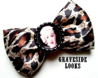 Classic Marilyn on a Leopard Satin Bow