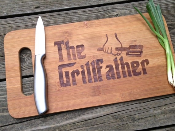 The Grill Father engraved cutting board