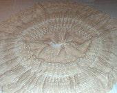Crochet Skirt Cotton thread in Neutral Medium Large size, Boho Crochet Skirt, Womans Skirt