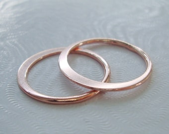 2 pcs, 19mm, 18 gauge, 18K Rose Gold Sterling Silver Eternity Circle Link, Halo, Great for Macrame bracelet