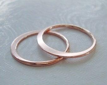 2 pcs, 19mm, 18 gauge, 18K Rose Gold Sterling Silver Eternity Circle Link, Halo, Great for Macrame bracelet