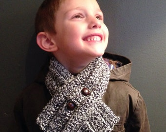 Crochet Unisex Children's Cowl Scarf Neck Warmer In Color Of Your Choice