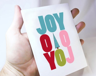 Joy to the World Christmas Card. Holiday Greeting Card. Joy Christmas Quote. Buy Two Get One Free