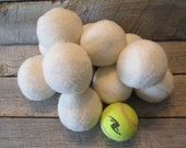 Set of 3 -100% Wool Dryer Ball,  Ready to Ship Today