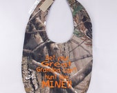 Bet your Great Grandpa can't hunt like MINE - Small Baby Bib