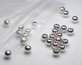 4mm Round Seamless Sterling Silver Beads 25 or 50 pcs. S-143