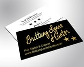 Black Gold Business Cards with Silk Laminate, Gold Foil