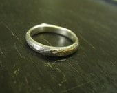 Oak Branch Band -- Sterling Silver Nature Cast Ring -- Botanical Jewelry