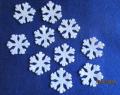 Mini Felt Snowflakes # 3-Princess Tutus Appliques-DIY Kits for Frozen Inspired Parties-Hair Accessories Decorations-Costume Embellishments