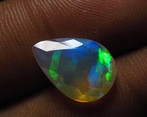 9x13 mm The Most Best High Quality in The World Ethiopian Opal Super Sparkle Faceted Cut Stone Unique Pcs Amazing Full Flashy Multy Fire