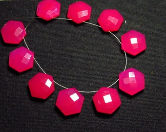 NEW / Arrival - 5 Matched Pair -  Gorgeous Hot Pink  CHALCEDONY - 16x16 mm Fancy Start shape Briolettes Great Items