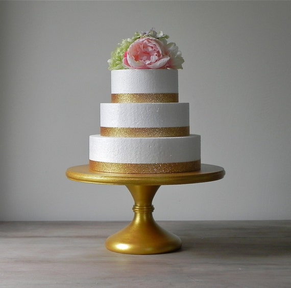12 wedding cake stand 12 quot gold metallic wedding cake stand pedestal rustic 10037