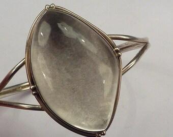 MYSTIC MOON : Polished Quartz Sterling Silver Cuff