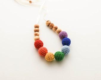 Rainbow Nursing Necklace /BabyTeething Necklace Made In Israel by CasaDeGato